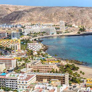 Los Cristianos beach in Tenerife, Canary Islands